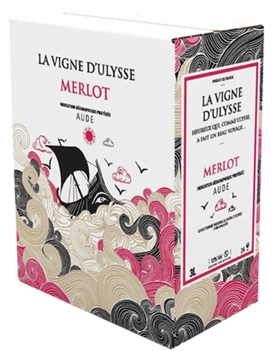 Box - Aude Merlot Rouge - 10 liter