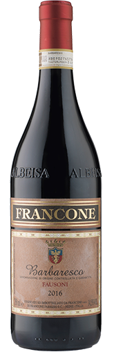 Barberesco 'Fausoni' 2016 + GRATIS KASSE Langhe Chardonnay Gallina Le Rose 2019