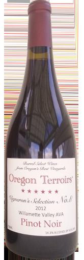 Oregon Terroirs Vignerons Selection No 8 Pinot Noir Willamette Valley 2012